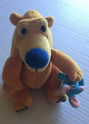 "Mattel Disney BEAR IN THE BIG BLUE HOUSE 6"" Plush STUFFED ANIMAL Toy Jim Henson"