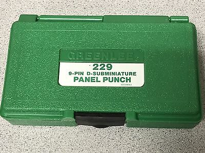 Greenlee 34436, 229 9-Pin D-Subminiature Panel Punch An $800 Value