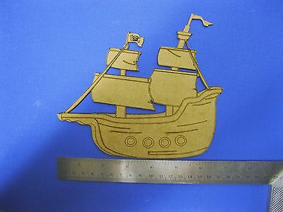 2mm MDF Pirate Ship for Kids Arts Crafts Painting and Layered Picture Build-up