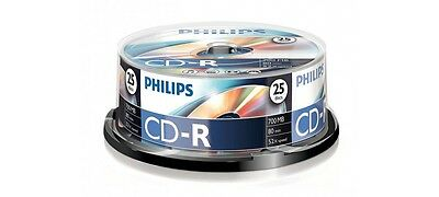 Philips CD-R 52x 700MB 80MIN - 25 Pack Spindle