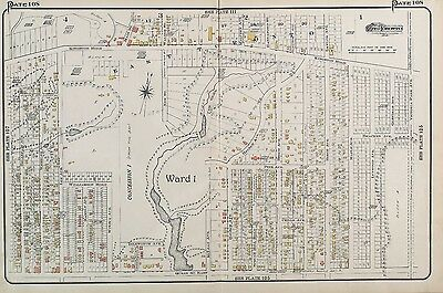 1910, Charles E. Goad, Canada, East Toronto, Ward 1, Reproduction Plat Atlas Map