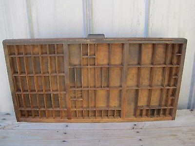 Vintage Hamilton Wood Printers Typeset Tray Hanging Shadow Box For Trinkets 6350