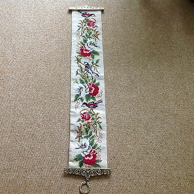 Hand worked Tapestry Bell Pull