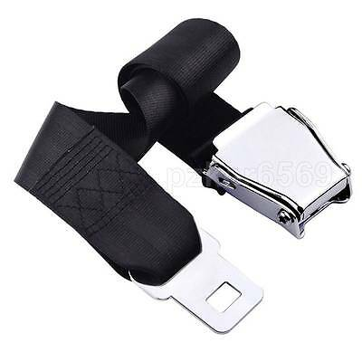 Adjustable Airplane Seat Belt Extension Extender Steel Metal Buckle Airline Belt
