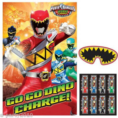 POWER RANGERS Dino Charge PARTY GAME POSTER ~ Birthday Supplies Decorations