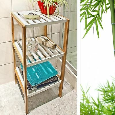 Bamboo Storage Bathroom Home 3 Tier Unit Wooden Display Shelf Shelving  sc 1 st  PicClick UK & 3 TIER WOODEN Bamboo Home Bathroom Storage Unit Square Display Shelf ...