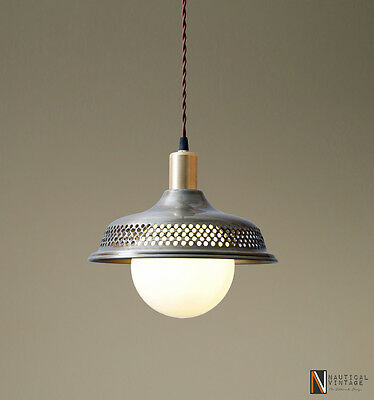 Luna Modern Rustic Perforated Metal Shade Pendant Industrial Globe Ceiling Light