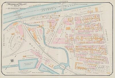 1913, Charles E. Goad, Montreal, Canada, Lachine Canal, Copy Plat Atlas Map