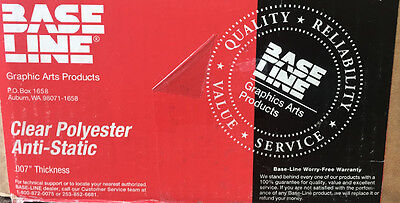 """Clear Polyester Layout Base Anti-Static Film 30"""" X 40""""  7 Mil Thickness"""