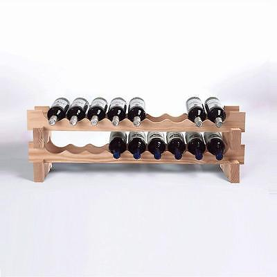 Wine Enthusiast 18-Bottle Stackable Wine Rack Kit in Natural-640 18 03
