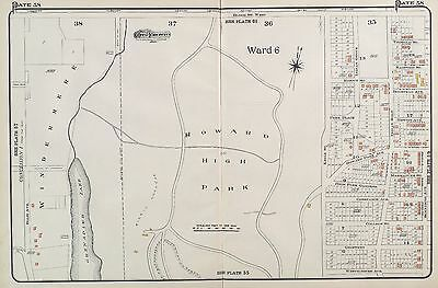 1910, Charles E. Goad, Toronto, Canada, Howard/ High Park, Copy Plat Atlas Map