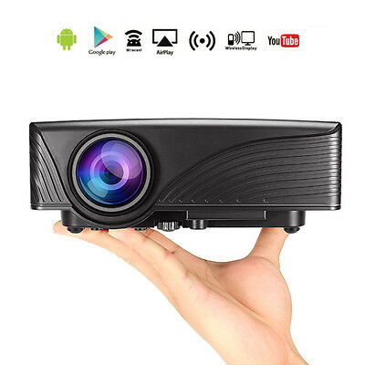 MantisTek® MP1 1200 Lumens Android 4.4 1G/8G WiFi Portable LED Projector with S