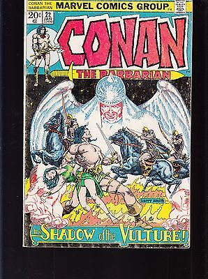Conan The Barbarian  #22 1973 Marvel -Shadow Of The Vulture- Barry Smith  Fn-