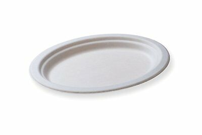 Restaurantware RWA0187 Pulpa Bagasse Large Oval Plate 12.5x10 100 count box