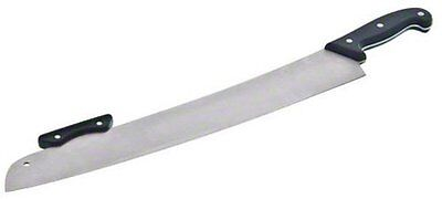 """Stainless Steel Pizza Knife w/ POM Handle - 23.9"""" Length x 3.7"""" Width Silver"""