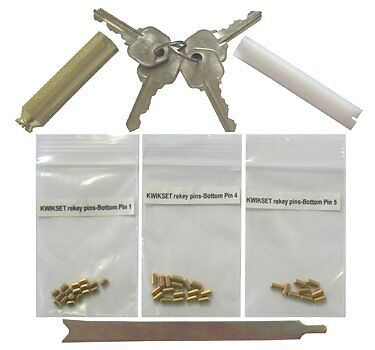 Kwikset Keyway Rekey Kit & Rekeying w/ 4 Keys 8 Locks 5 Pins Locksmith Tools
