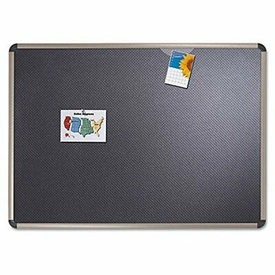 Quartet Prestige Euro Black Embossed Foam Bulletin Board, 4 x 3 Feet, Aluminum/T