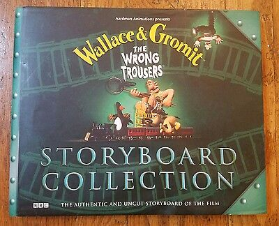 Wallace & Gromit The Wrong Trousers Storyboard Collection Hardcover 1998