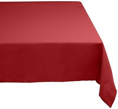 DII CAMZ32551 100% Polyester, Machine Washable, Holiday, Dinner Solid Tablecloth
