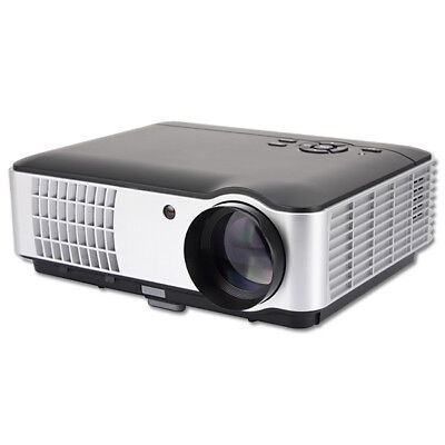 Rigal RD-806 LCD HD 1080P LED Portable Projector 1280x800 2800 Lumens HDMI VGA H