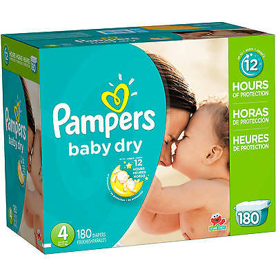 Pampers 80230524 Baby Dry Diapers, Economy Pack (Choose Your Size)