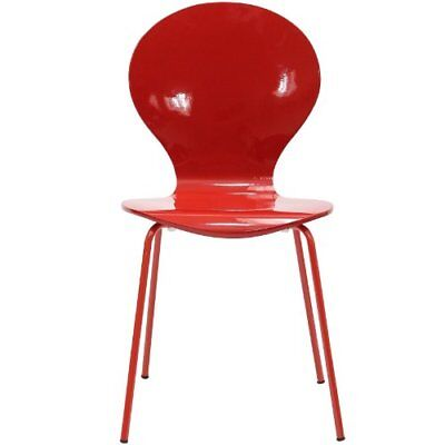 LexMod Insect Side Chair in Red