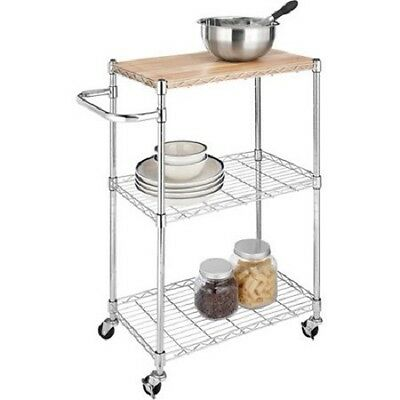 Whitmor 6056-37 3-Tier Cart and Cutting Board