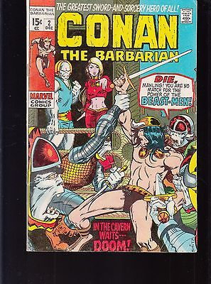 Conan The Barbarian #2 1970 -In The Cavern Waits----Doom-   Barry Smith...vg+