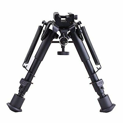 Heavy Duty 6- 9 In Tactical Rifle Bipod W/ Adjustable Spring Return With Adapter