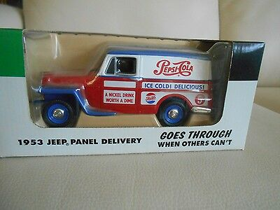 Pepsi 1953 Jeep Panel Delivery Truck BANK, BNIB, Liberty Classics, Issued 1997!