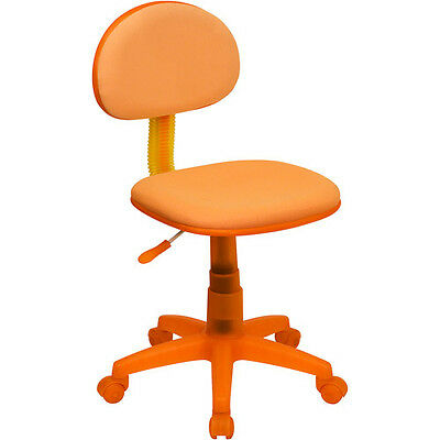 Orange Fabric Ergonomic Swivel Task Chair