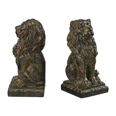 Sterling 87-8014 Composite Lion Bookends, Aged Copper