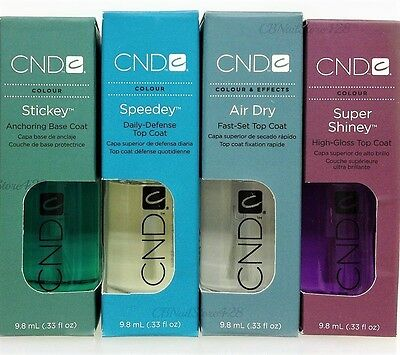 BASE & TOP COAT - CND - Choose Any size .33oz/9.8ml
