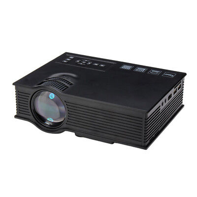 UC40+ Mini LED Projector Black Home Cinema HD 800LM AV HDMI USB SD