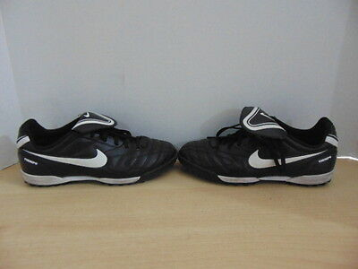 Soccer Shoes Cleats Indoor Child Size 4 Nike Black White