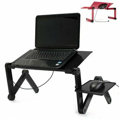 Portable Adjustable Foldable Laptop Notebook PC Desk Table Vented Stand Bed Tray