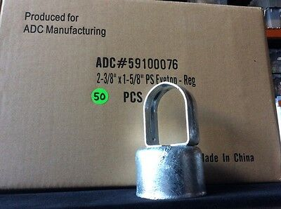 """(50) Chain Link Fence EYE TOP for 2-3/8"""" Line Post & 1-5/8"""" Top Rail -Commercial"""