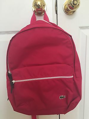 NWT NEW Lacoste Women's Girl's Virtual Pink Small Backpack