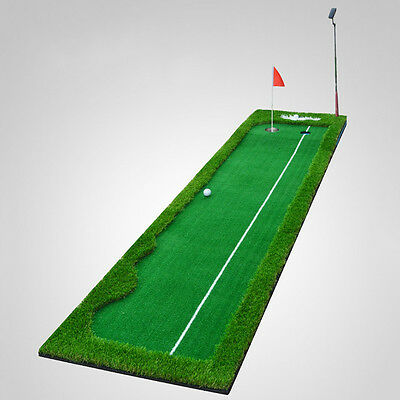 Golf Putting Green Portable Home Office Golfing Device Training Exercise Mat Aid