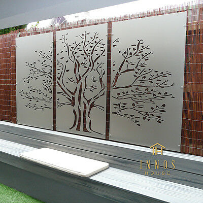 Tree of Life Triptych - DIY Decorative Screens Indoor / Outdoor Garden Wall Art