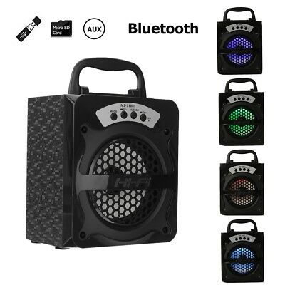 MS-130BT Bluetooth Wireless Portable Speaker Super Bass with USB TF AUX FM Radio