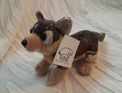 plush WOLF CUB stuffed animal S.O.S. Save Our Space 2003 beanbag plush NWT