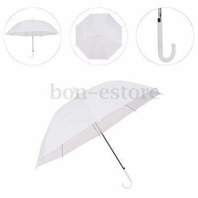 Dome White Umbrella Large Clear Scrub Parasol Sun Rain Walking Wedding Party US