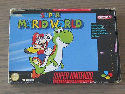 Jeu Super Nintendo Snes  Super Mario World  Complet En Boite