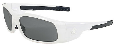 $10.50 Safety Glasses White Frame With Gray Lens Ansi Z87+ Free Shipping