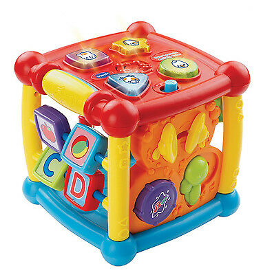 Baby Toy Vtech Busy Learners Activity Cube Educational Toddler Music Infant New