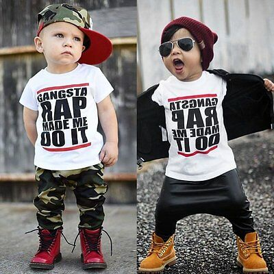 Toddler Kids Baby Boys Girls Short Sleeve Casual T-shirt Tops Cotton Blouse