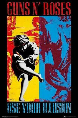 "Guns N' Roses Flagge / Fahne ""use Your Illusion I & Ii"" Poster Flag Posterflag"
