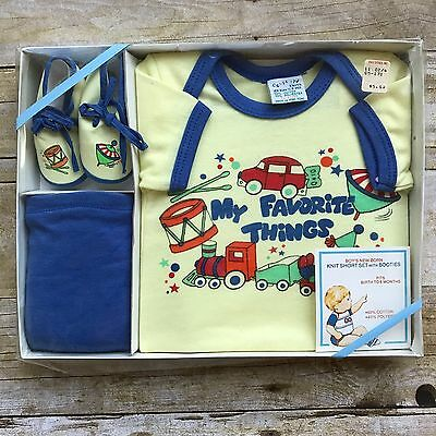NOS Baby Gift Set Outfit Boys Infant 0 3 6 Months Size Newborn Confetti Knits