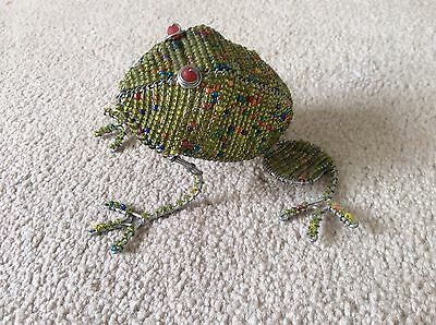 Wire and Bead Frog